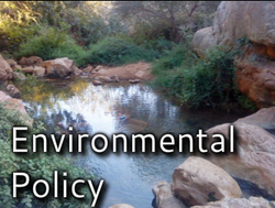 Image of a spring - links to Environmental Policy page
